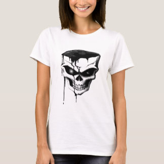 """Skull in charcoal"" (AOM Design) T-Shirt"