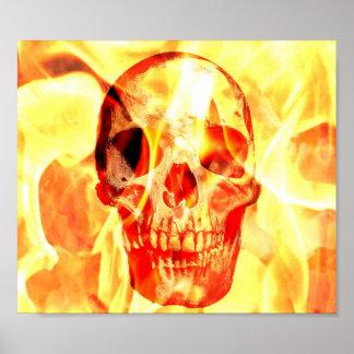 Skull in Flame Poster