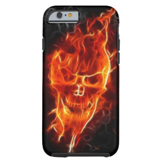 Skull in Flames Tough iPhone 6 Case