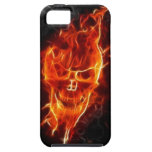 Skull in Flames iPhone 5 Case