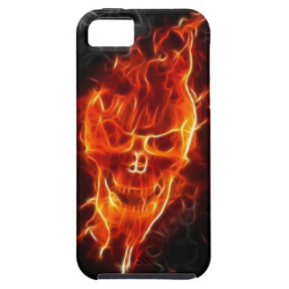 Skull in Flames iPhone SE/5/5s Case