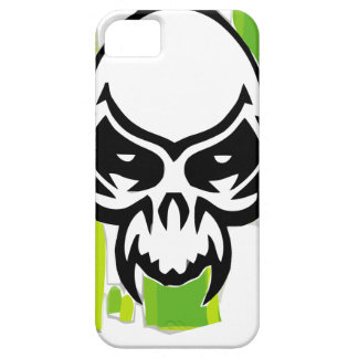 Skull in green fund iPhone 5 cover