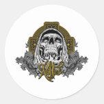Skull in hell sticker