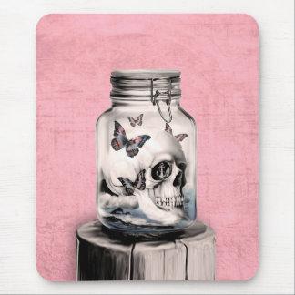 Skull in jar illustration mouse pad