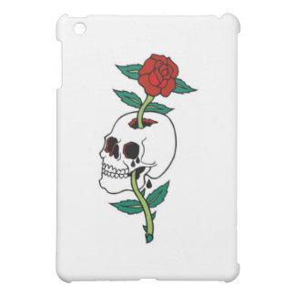 SKULL IN TEARS WITH ROSE TATTOO ART PRINT iPad MINI CASES