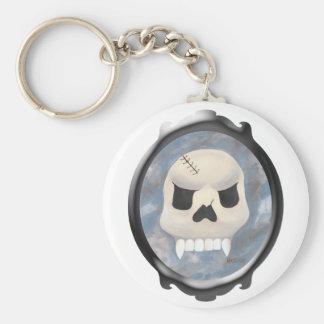 Skull  in the Mirror Basic Round Button Keychain
