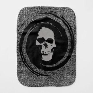 Skull in the Whirl Burp Cloths