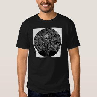 skull in tree t shirt