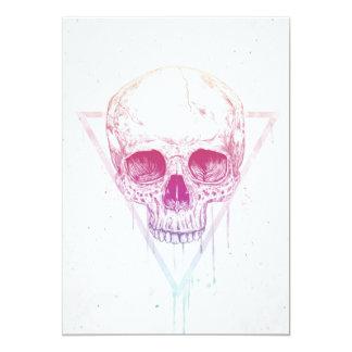 Skull in triangle card
