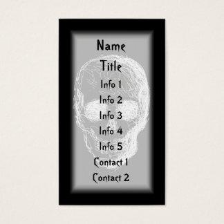 Skull, in White. Business Card