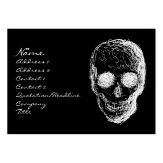 Skull, in White. Large Business Card