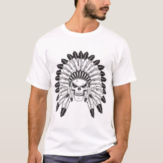 Skull Indian Chief T-Shirt