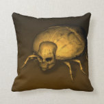 Skull Insects Throw Pillows