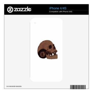 skull iPhone 4S decals