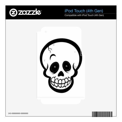 skull iPod touch 4G skin