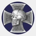 Skull iron-cross シール
