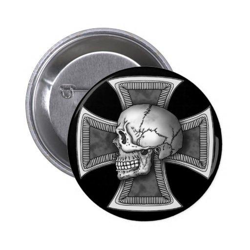 Skull iron-cross pins