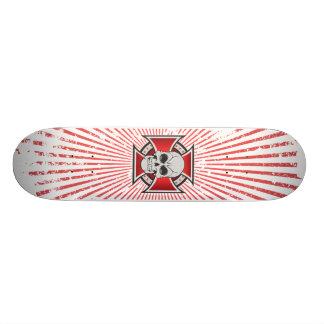 Skull Iron Cross Custom Skateboard