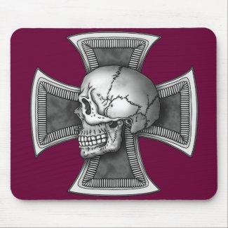 Skull iron-cross mousepad