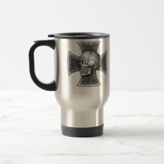 Skull iron-cross mug