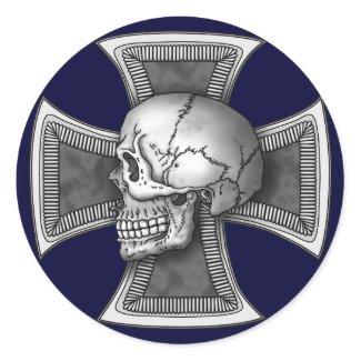 Skull iron-cross sticker