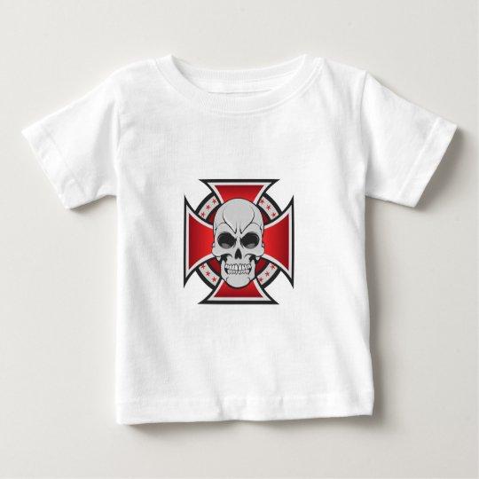 Skull & Iron Cross: Vector Drawing: Baby T-Shirt