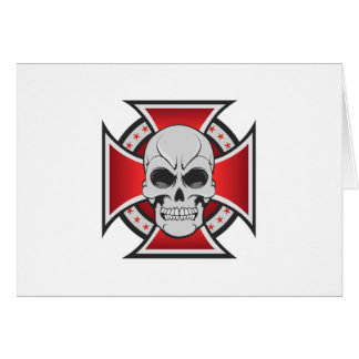 Skull & Iron Cross: Vector Drawing: Card