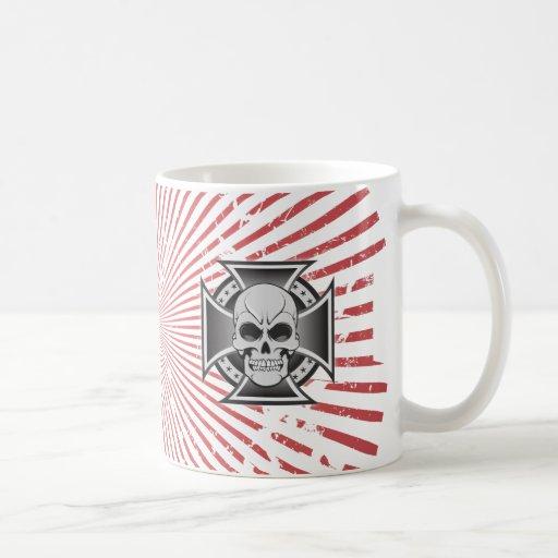Skull & Iron Cross: Vector Drawing: Coffee Mug