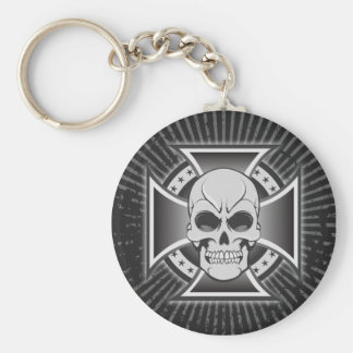 Skull & Iron Cross: Vector Drawing: Keychain