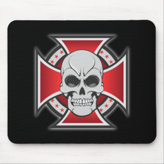 Skull & Iron Cross: Vector Drawing: Mouse Pad