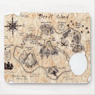 Skull island map tapete de raton