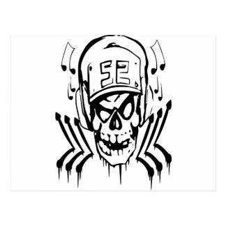skull js postcard