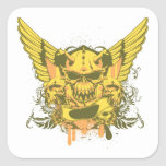 Skull ~ Judgement Day Fantasy Art Square Stickers