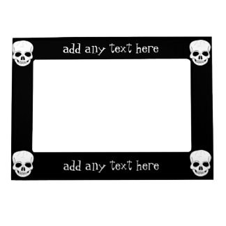Skull Just Add Text Magnetic Frame