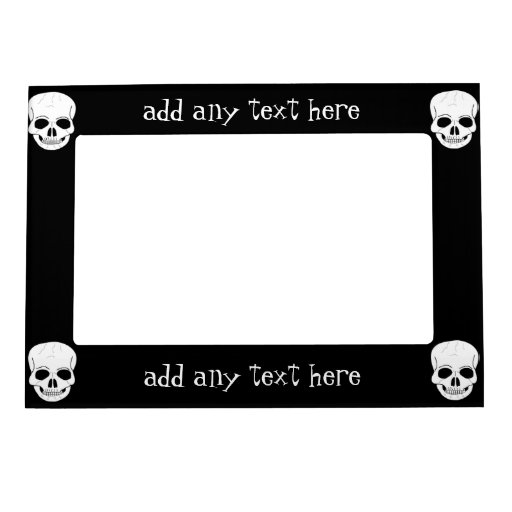 Skull Just Add Text Magnetic Frames