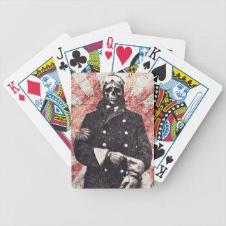 Skull kamikaze bicycle poker cards