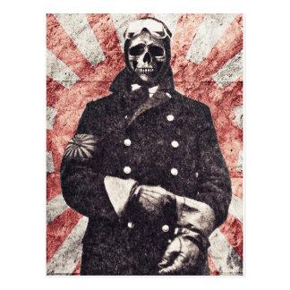 Skull kamikaze postcard