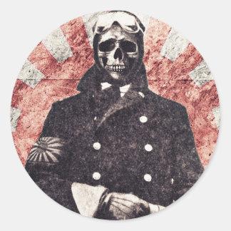 Skull kamikaze round stickers