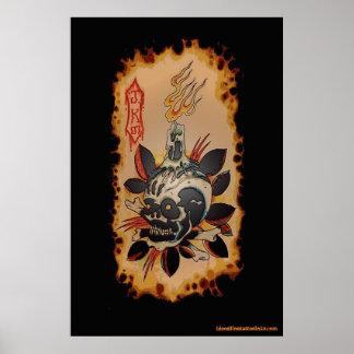 Skull & Kandle Poster