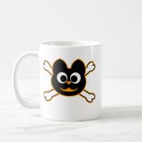 skull Kat orange Mug