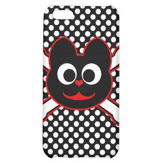 Skull Kat Red iPhone 5C Cases