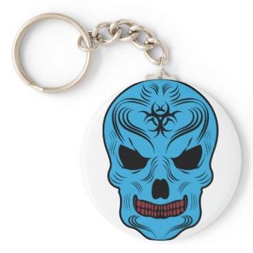 Halloween Themed Skull Keychain