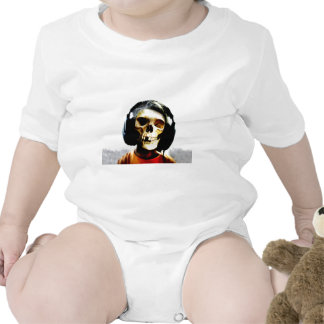 Skull Kid Headphones Design - GeekShirts Baby Bodysuit