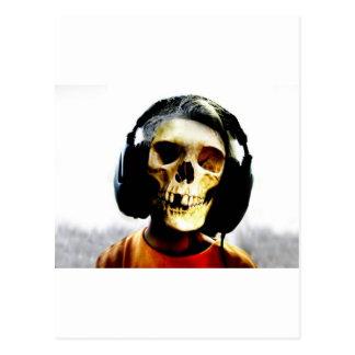 Skull Kid Headphones Design - GeekShirts Postcard