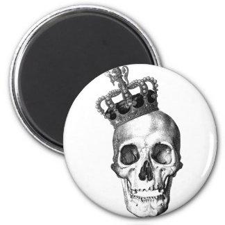 Skull King 2 Inch Round Magnet