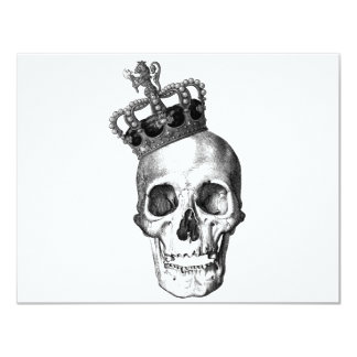 """Skull King 4.25"""" X 5.5"""" Invitation Card"""