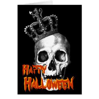 Skull King Greeting Card