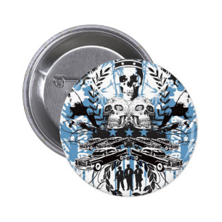 Skull King Pinback Button