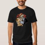Skull Kiss with Hearts and Roses by Al Rio Shirt