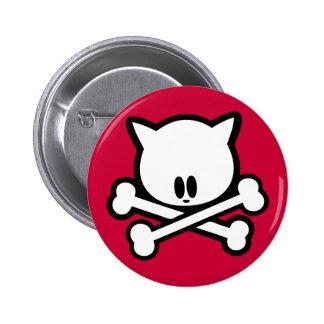 Skull Kitty - Button
